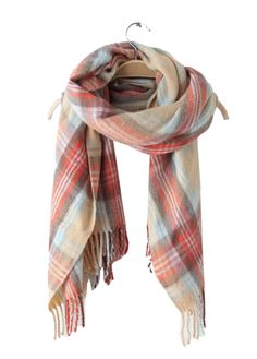 Womens-Pashmina-Soft-Cashmere-Classic-Plaid-Style-Warm-Wrap-Long-Scarf