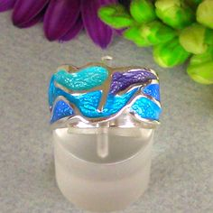 Hey, I found this really awesome Etsy listing at https://www.etsy.com/listing/273079764/sterling-silver-ring-with-enamel-spring