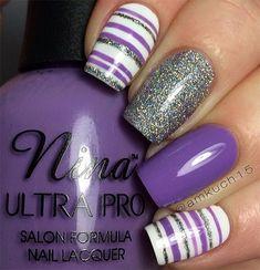 Gel Manicure Design Purple