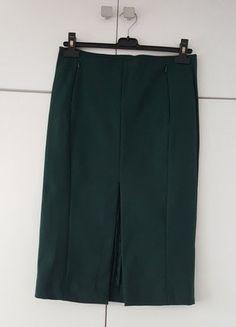 Kup mój przedmiot na #vintedpl http://www.vinted.pl/damska-odziez/spodnice/16447591-spodnica-olowek-butelkowa-zielen-hm