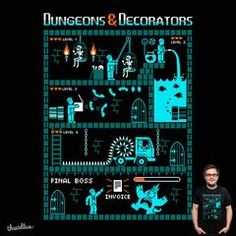 """Dungeons & Decorators"" - Threadless.com - Best t-shirts in the world"