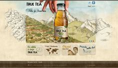 True Tea by Jakub Sodomka, via Behance