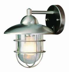 Trans Globe Lighting 4370 ST Coastal Coach 8-Inch Outdoor Wall Lantern, Stainless Steel for $52.20