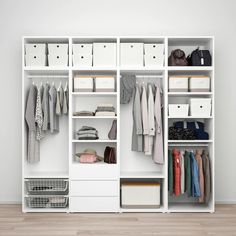 PLATSA white, Sannidal Ridabu, Wardrobe with 7 drawers. The PLATSA series has storage solutions for even the trickiest spaces. Finish with doors and interior organisers as needed. Plastic Shelves, Plastic Drawers, Powder Coating Wheels, Recycled Door, Ikea Inspiration, Open Wardrobe, Frame Shelf, Polypropylene Plastic, Clothes Rail