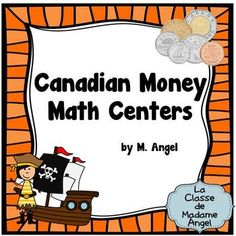 Canadian Money (Coins) Math Centers in French - Les Pieces Learning Centers, Math Centers, Canadian French, Learning Money, Classic Card Games, Canadian Coins, Primary Maths, Math Practices, Math Classroom
