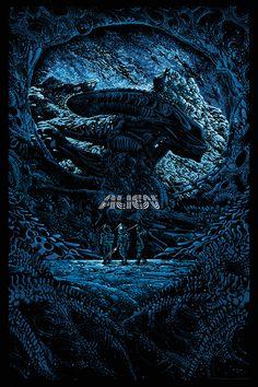 Kilian Eng Mondo Alien 2016 300 In Hand Print Aliens Day Not Shaw Durieux Alien 1979, Saga Alien, Alien Film, Alien Movie Poster, Aliens Movie, Arte Alien, Alien Art, Xenomorph, Kilian Eng