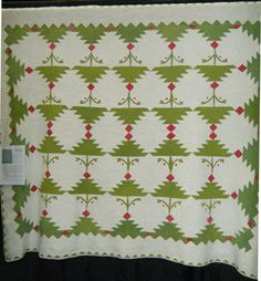 The Quilt Index   Ohio Tree  1840-1860 Old Quilts, Antique Quilts, Log Cabin Quilts, Barn Quilts, Vintage Quilts Patterns, Quilt Patterns, Quilting Projects, Quilting Designs, Red And White Quilts