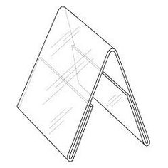 """: 5""""w x 7""""h Clear Styrene Double Sided Table Tent/Sign Holder"""