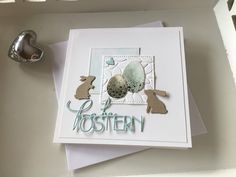 Related image Ostern Party, Karten Diy, Easter Art, Card Making Tutorials, Square Card, Butterfly Cards, Pretty Cards, Card Tags, Halloween Cards