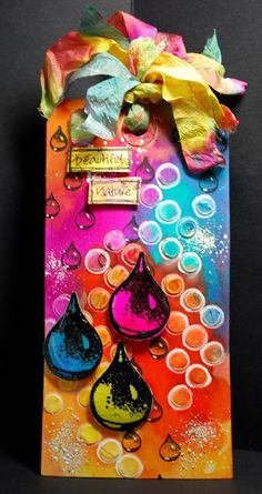 Eileen's Crafty Zone: Designs By Ryn.... New Rain Drops Set Stamps and Distress Stains