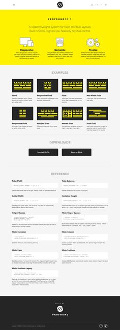 Profound Grid  A grid system for fixed and fluid layouts