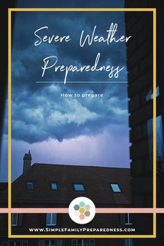 The weather can, often times, be unpredictable. Severe weather preparedness is essential in the event of an emergency. Kids Survival Skills, Family Emergency, Emergency Management, Severe Weather, Emergency Preparedness, Journey, Handle, How To Plan, Tips