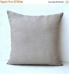 10% Sale Grey pure Linen pillow  Decorative pillows by AmoreBeaute