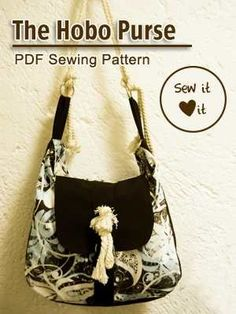 Hobo Purse Sewing Pattern + Tutorial cuz-i-m-going-to-learn-to-sew