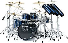 My husband would be in heaven if he owned this drum kit! Steward Copeland Signature Kit... not showing him ;) lol