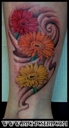 gerbera daisy tattoo on pinterest aster tattoo white daisy tattoo and aster flower tattoos. Black Bedroom Furniture Sets. Home Design Ideas