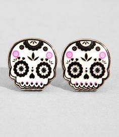 Dia de Los Muertos stud earrings