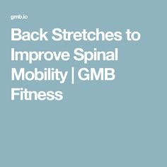 Back Stretches to Improve Spinal Mobility | GMB Fitness