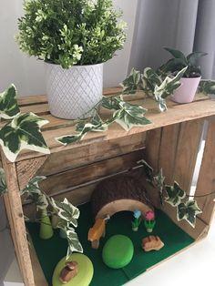 Small world set ups eyfs Baby Room Activities, Small World Play, Eyfs, Hygge, Planter Pots, Classroom, Class Room