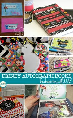 These DIY Disney autograph books are amazing - I need to make some for my kids!