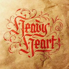 Heavy hearts by @jasonprater - Daily typography & lettering design love ❤️ - typostrate - typostrate.com