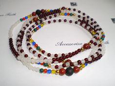 Orisha Agayu Beaded Necklace Santeria Elekes Yoruba by OshaDesigns, $19.99