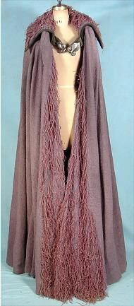Rare Collectible, Medieval Raw Silk & Wool Cape, Worn in the 1967 film 'Camelot.'