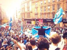 Scottish independence rally - Buchanan Street, Glasgow