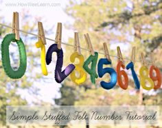 These felt numbers make fantastic homemade gifts ideas! This is a great starter tutorial for a number of different felt projects!