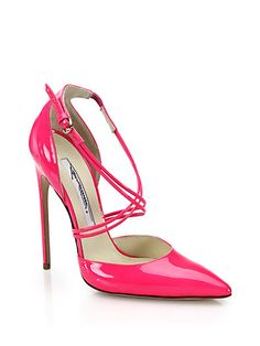 BRIAN ATWOOD Criss-Cross Patent Leather Pumps - $795 SS 2015 Shoes