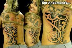 Wagner Santaliestra, artista do Estúdio W Tattoo e Piercing. www.wtattoo.com.br www.facebook.com/wtattoo