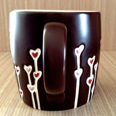 "Starbucks 2009 "" St. Valentine's Day chocolate heart balloon mug"