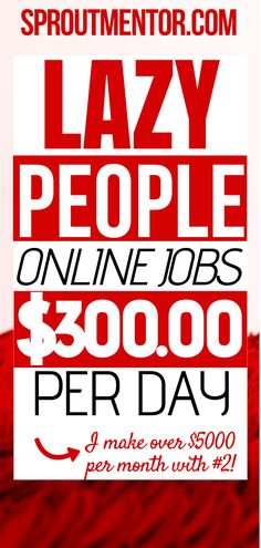 Are you a lazy person looking for online jobs from home you can use to make extra cash every month? Here are low stress jobs and easy jobs that lazy people use to make money online while they even work from home. Earn Extra Money Online, Earn Money From Home, How To Get Money, Mo Money, Work From Home Companies, Online Jobs From Home, Work From Home Opportunities, Legit Work From Home, Legitimate Work From Home
