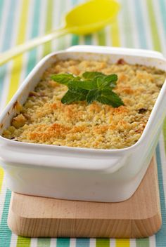 Crumble de courgettes et Serrano au Parmesan - Plus équilibré : même recette mais courgettes coupées en cube cuite à la cocotte et pas de serrano :p