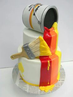 Awesome......painters cake