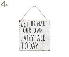 "Sada 4 dekorací ""Mees"", 18 x 18 cm Home Living, Fairy Tales, How To Make, Poster, Fairytail, Adventure Movies, Fairytale, Billboard, Adventure"