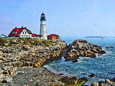 Lighthouse At Portland Head Cape Elizabeth Maine