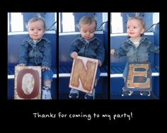 First birthday party thank you cards