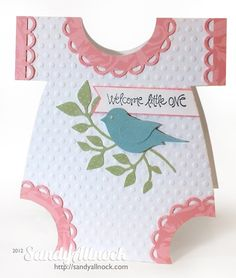 New baby card.  This is too cute! Time to start rebuilding my craft supplies.