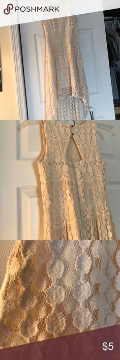 Creme lace high low dress Lace high low dress Xhilaration Dresses High Low