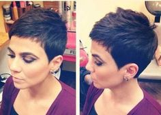 Short Pixie-Cut-Dark-Hair Outstanding short pixie hairstyles for women Short-Pixie-Cut-Dark-Hair Superb Short Pixie Haircuts for Women - Unique Long Hairstyles Ideas Long Pixie Hairstyles, Short Pixie Haircuts, Short Hair Cuts, Shortish Hairstyles, Hairstyles 2016, Medium Hairstyles, Pixie Cut Kurz, Pixie Cuts, Pixies