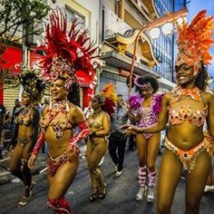 Street carnival celebrations in Sao Paulo