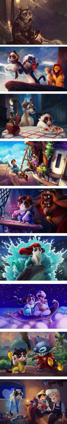 Grumpy Cat in Disney movies:)