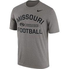 fe2e6858499 Nike Men's Missouri Tigers Grey Lift Football Legend T-Shirt Nike Ohio  State, Kansas