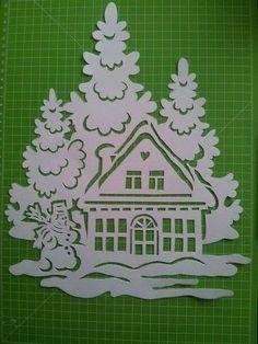 Christmas Stencils, Christmas Paper Crafts, Christmas Templates, Christmas Printables, Christmas Art, Winter Christmas, Christmas Ornaments, Christmas Lights, Diy Y Manualidades