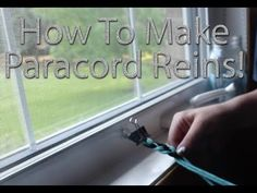 How To Make Paracord Reins - YouTube