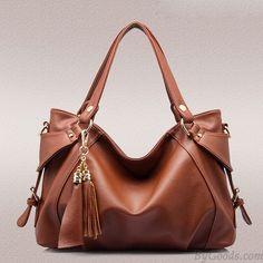 Women PU Leather Hobo Handbag Tassel Tote Shoulder Bag Crossbody Bag sold out Leather Hobo Handbags, Tote Handbags, Tote Bags, Crossbody Bags, Brown Handbags, Ladies Handbags, Tote Purse, Shoulder Strap Bag, Leather Shoulder Bag