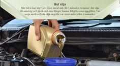 Byt olja ofta  Olja är livsnerven som håller viktiga motorkomponenter i gott skick genom att minska friktion och slitage. Byta olja var tredje månad, eller läs bruksanvisningen för tillverkarens rekommenderade oljebytesintervaller. Detta kommer att säkerställa att du gör din del för att hålla frekvensen av oljebyten till din bils behov. Va alltid noga med att kontrollera för korrekt oljenivå när du förbereder dig för en lång resa. #dubbdäck