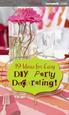 Beautifully inspiring party decorating ideas!