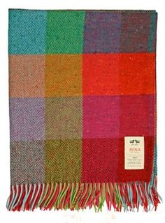 Avoca Trudy Donegal throw The Donegal yarn consists of a base colour mixture of up to six individual colours with up to another seven or eight contasting solid fleck clotted along the surface of the yarn. Wood Wick Candles, Donegal, Textile Patterns, Textiles, Cotton Quilts, Wool Blanket, Personalized Gifts, Unique Gifts, Blankets